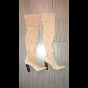 La Moda Over The Knee Camel Boots Size 7